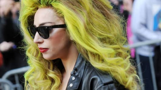Lady Gaga is seen in New York.
