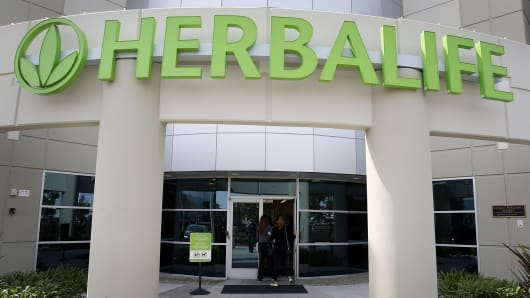The Herbalife Los Angeles distribution center is seen in Carson, Calif.