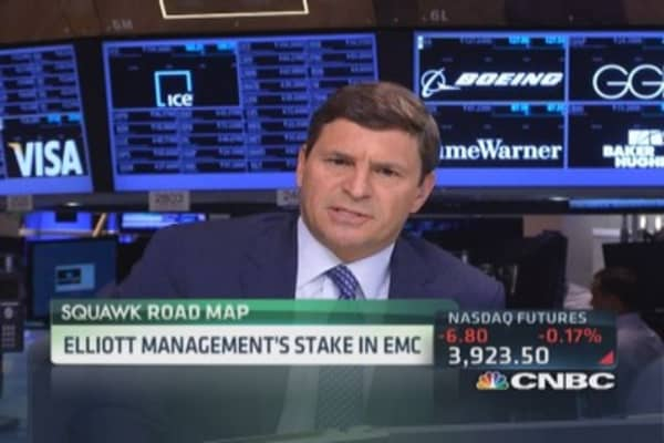 Elliott pushes to break up EMC