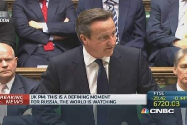 It's a 'defining moment for Russia': Cameron