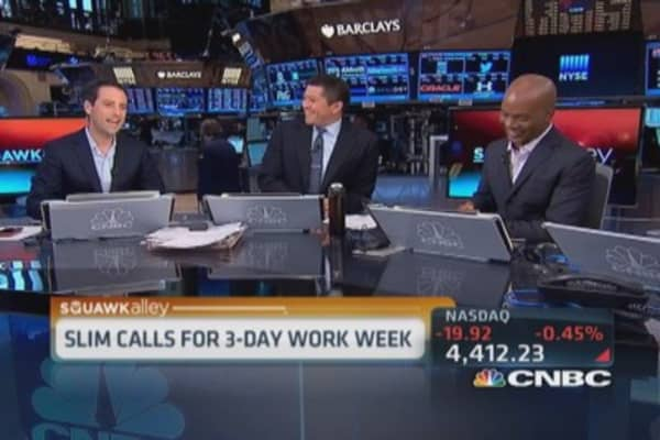 Carlos Slim's 3 day work week