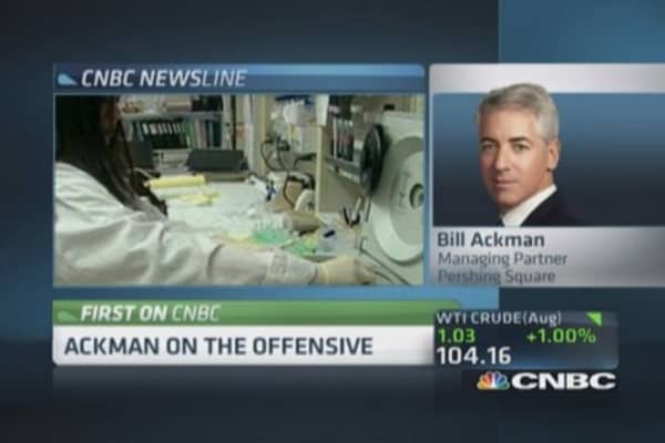 Ackman: Will not raise offer for Allergan