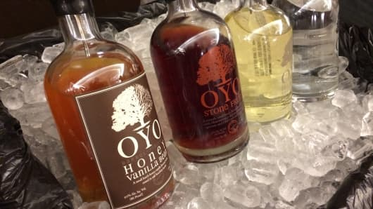 OYO's barrel-rested vodka is a successful accident.
