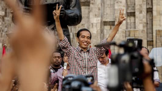 Indonesian Presidential Candidate Joko Widodo.
