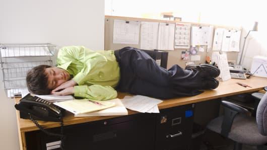 Premium Sleeping worker