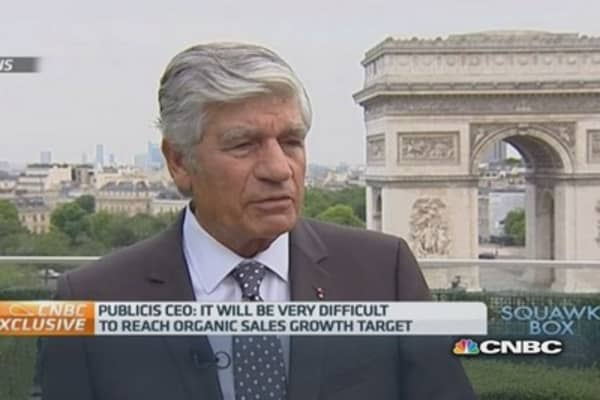 Publicis was 'distracted' by Omnicom merger: CEO