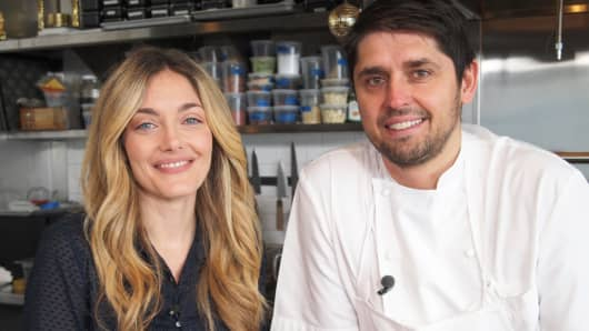 "Waylynn Lucas, from CNBC's ""Restaurant Startup"" and Ludo Lefebvre, chef and co-host of ""The Taste."""