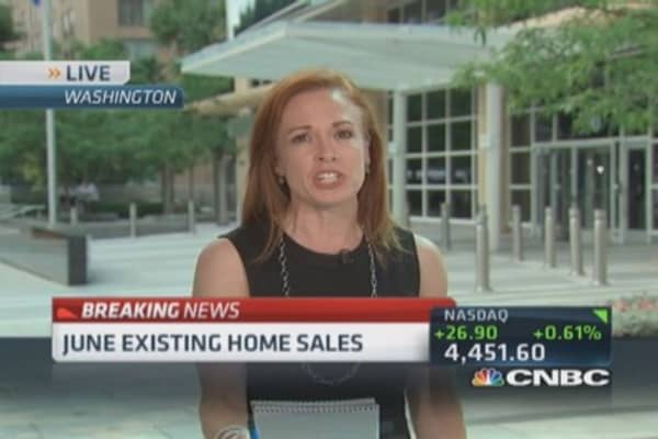 June existing home sales up 2.6%