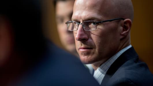 Joseph 'Joe' Ratterman, president and chief executive officer of BATS Global Markets Inc., looks on during a Senate Permanent Subcommittee on Investigations hearing in Washington, June 17, 2014.