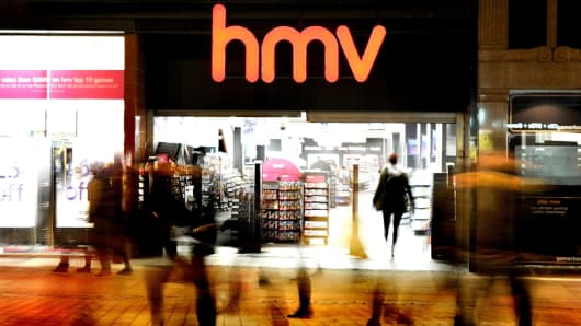 An HMV store in Manchester, England