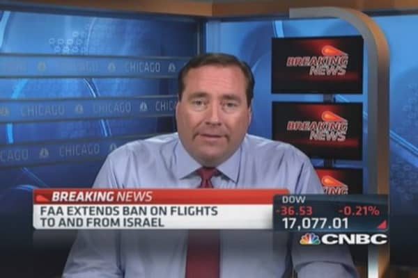 FAA extends ban on flights to Israel