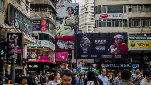 Hong Kong's Causeway Bay shopping district.