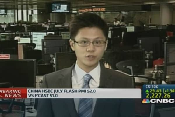 Mini-stimulus propping up China flash PMI: HSBC