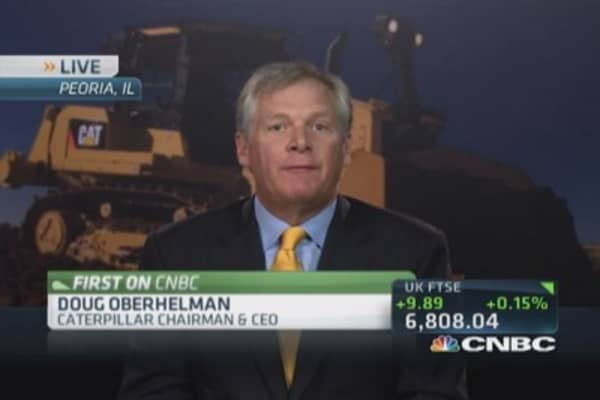 Caterpillar CEO sees mining 'green shoots'