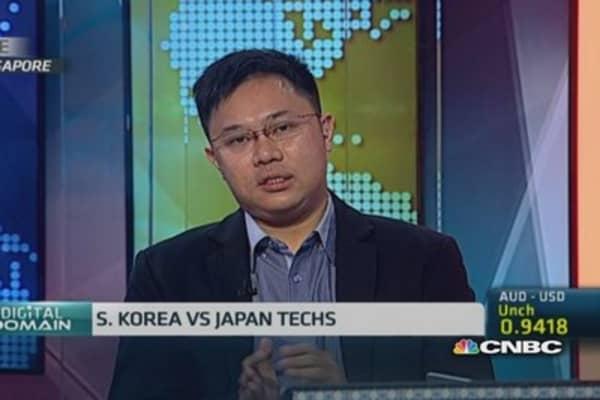 The clash of the Asian tech titans