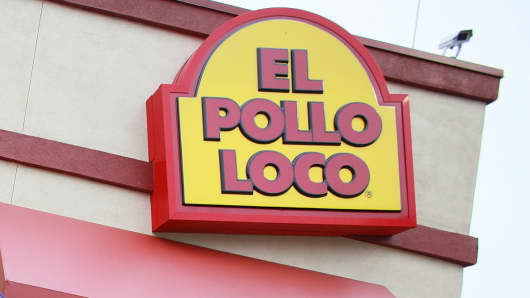 An El Pollo Loco restaurant is shown in Los Angeles.