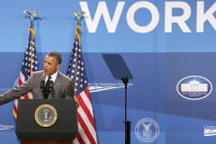 President Barack Obama delivers remarks during the White House Summit on Working Families at the Omni Shoreham in June.