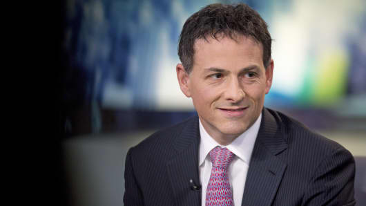 Greenlight Capital president David Einhorn pauses during an interview in New York.