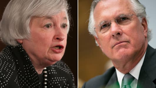 From left: Janet Yellen and Richard Fisher