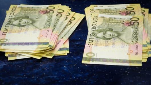 Swedish Krona currency.