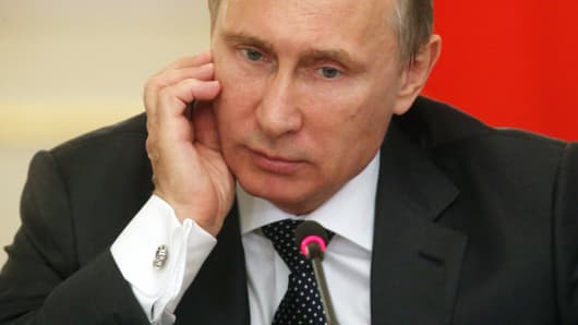 Russian President Vladimir Putin on July 28, 2014 in Moscow.