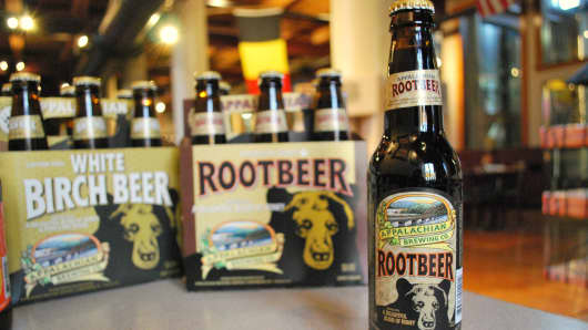 Appalachian Brewing Company's flagship root beer.