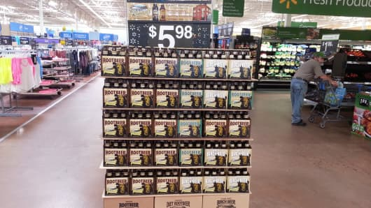 Appalachian Brewing Company's display in a Pennsylvania Walmart location.