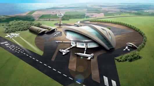 Artist's impression of prospective U.K. spaceport. The U.K. hopes to launch commercial space flights from 2018.