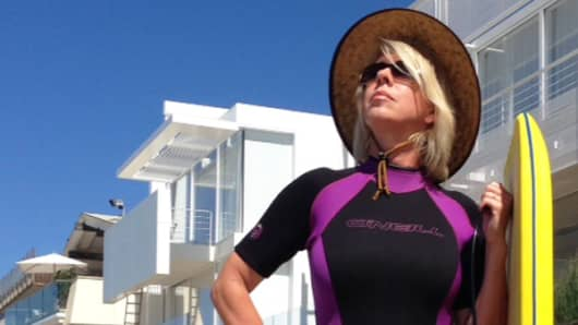 Jane Wells lives it up in Malibu.