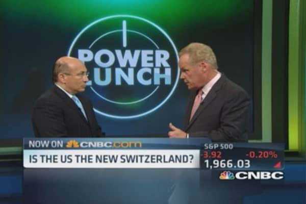 Is US the new Switzerland?