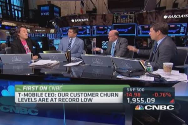 T-Mobile CEO: Customer churn at record low