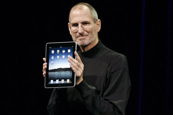 Apple CEO Steve Jobs announces the new iPad during an event at Yerba Buena Center for the Arts, Jan. 27, 2010, in San Francisco.