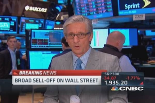 Pisani: Everything selling off