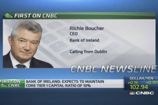 Irish recovery underway: Bank of Ireland CEO