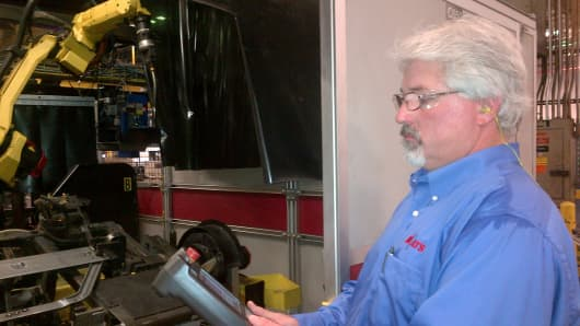 ATS technician, Jonathan Register.