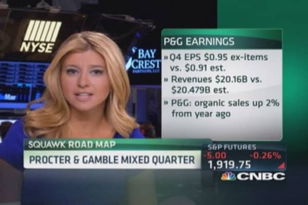 P&G struggles across categories