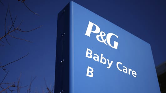 The Procter and Gamble baby care offices stand at P&G's headquarters in Cincinnati, Ohio,.
