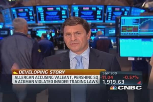 Allergan sues Valeant, Pershing Square & Ackman