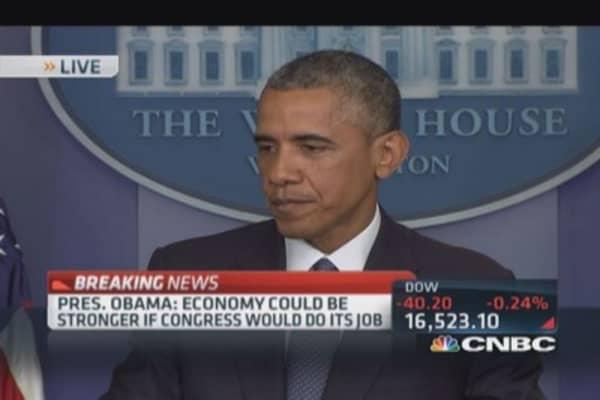 Pres. Obama: Congress costing America business & jobs