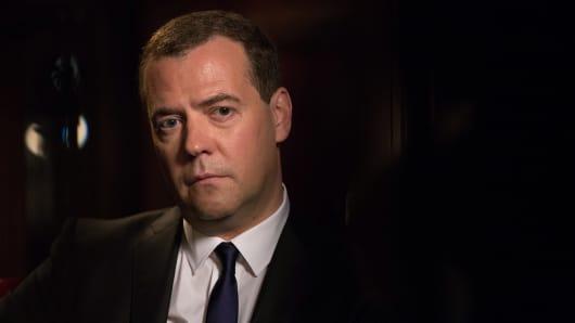 Dmitry Medvedev, Russia's Prime Minister.