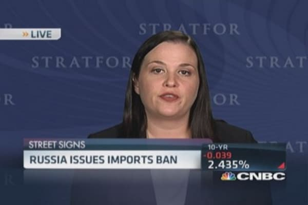 Russia issues imports ban