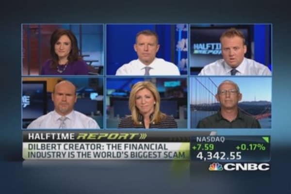 Financial advisors should come with warning labels: 'Dilbert' creator