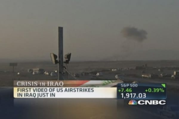 First video of US airstrikes in Iraq