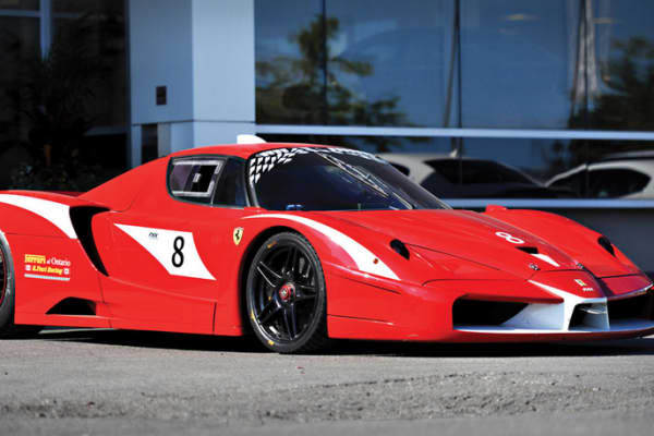 A 2006 Ferrari FXX Evoluzione for sale at The Concours d'Elegance in Pebble Beach, Ca.