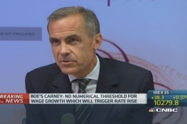 Mark Carney on housing market risk