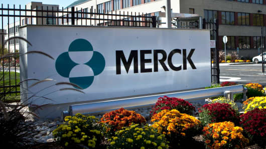 A Merck sign in front of the company's building in Summit, New Jersey.