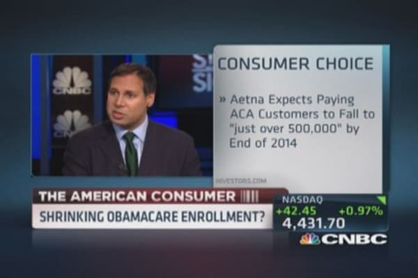 Shrinking Obamacare enrollment?
