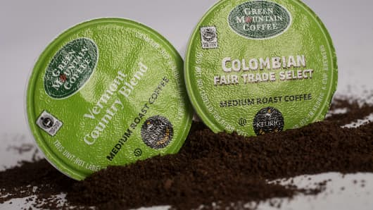 Green Mountain Coffee Roasters Inc. single-serve coffee capsules.