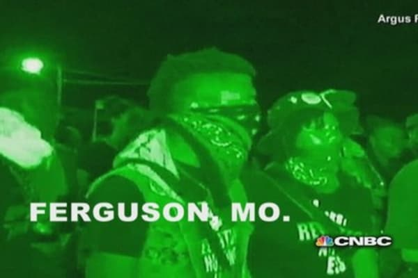 The question of militarized police in Ferguson, Missouri