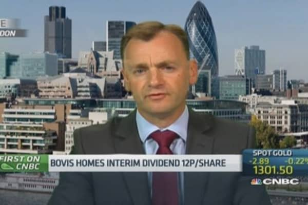 UK housing can deal with 'limited' rate rise: Bovis CEO